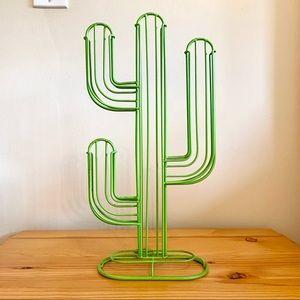 Green metal cactus decor Nespresso holder